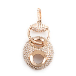 18K Rose Gold Diamond Pave Enhancer Pendant PA184821RRZ