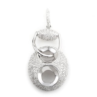 18K White Gold Diamond Pave Enhancer 1.49 ct. TDWPendant PA184821RBZ
