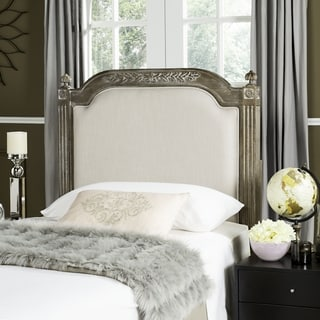 Safavieh Rustic Wood Beige Linen Headboard (Twin)