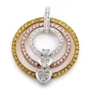 18K Tri-Gold Openwork Diamond Enhancer Pendant CPD8770