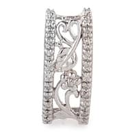 14K White Gold Leafy Diamond Pendant P7796W