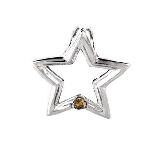 14K White Gold Brown Diamond Star Pendant P8307W-BRN