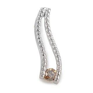 14K White Gold Brown Diamond Pendant P8308W-BRN