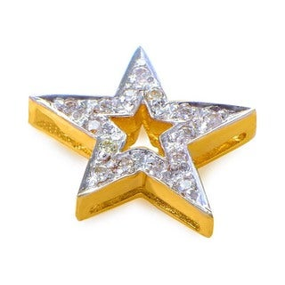 14K Multi-Gold Diamond Pave Star Pendant P8571Y