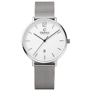 Obaku Men's Toft Analog Quartz Stainless Steel Mesh Watch V181GDCWMC