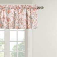 Cordelia Artisan Floral Block Print Pattern Window Valance