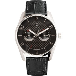 Obaku Men's Quartz Stainless Steel Leather Dress Watch V171GMCBRB