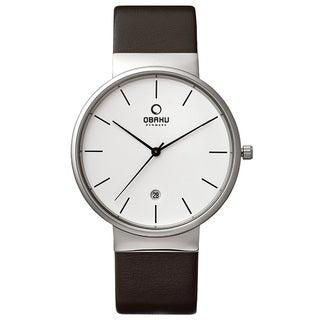 Obaku Men's Analog Display Quartz Brown Watch V153GDCIRN