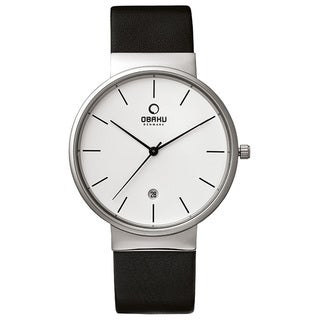 Obaku Men's Analog Quartz 30m Stainless Steel Leather Watch V153GDCIRB