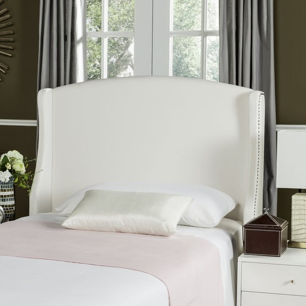shop safavieh austin white wingback headboard twin on sale free shipping today overstock. Black Bedroom Furniture Sets. Home Design Ideas