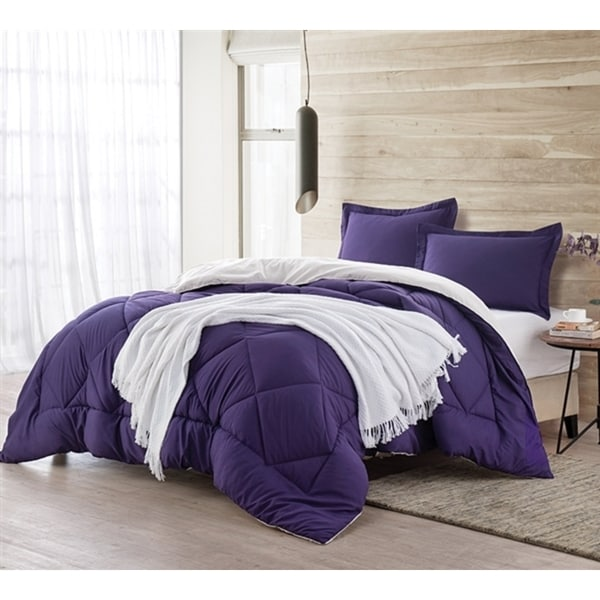 BYB Purple Reign/Jet Stream Reversible Comforter (Shams Not Included)