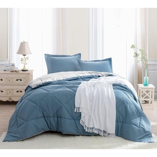Shop Byb Smoke Blue Silver Birch Reversible Comforter