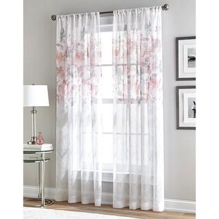 Waterfloral Bloom 84x50-inch Sheer Window Curtain Panel