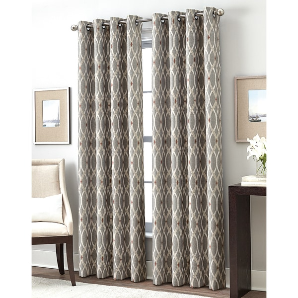 trellis gateway room darkening grommet curtain panel - free