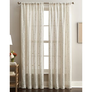 Lynette Floral Embroidered Curtain Panel