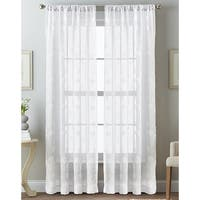 Embroidery Paige Sheer Curtain Panel