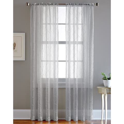 Pintuck Sheer Curtain Panel