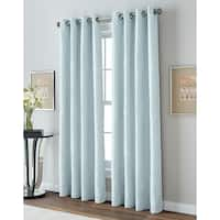 Wave Lane Room Darkening Lined 84-inch Grommet Curtain Panel