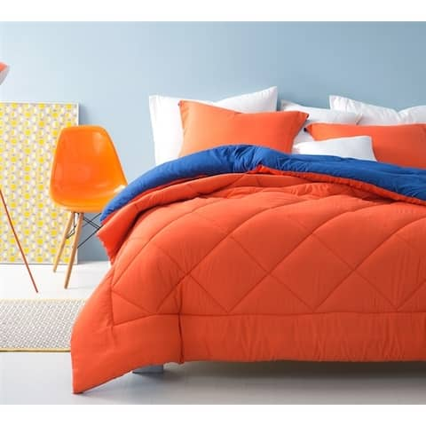 BYB Orange/Blue Reversible Comforter (Shams Not Included)