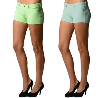Junior Girls Cotton Spandex Super Stretch Shorts (Pack of 2) (More options available)