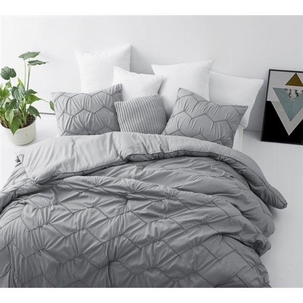 BYB Chevron Waves Supersoft Grey Comforter Set. Opens flyout.