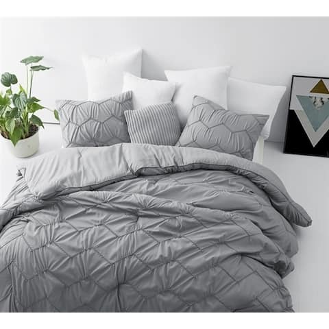 BYB Chevron Waves Supersoft Grey Comforter Set