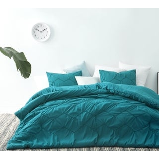 BYB Chevron Waves Supersoft Ocean Depths Teal Comforter Set