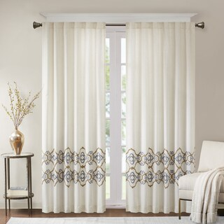 Bombay Minae Border Embroidered Window Curtain Panel