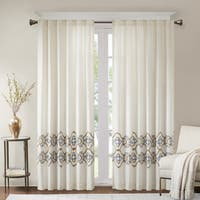Bombay Minae Border Embroidered Single Window Curtain Panel
