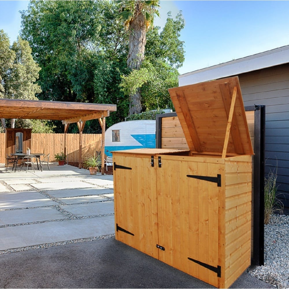 Rowlinson Apex Double Garbage Can Wood Storage Shed (Double Can) from  Overstock.com  Daily Mail