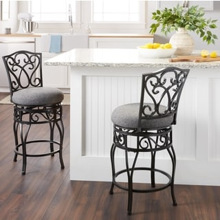 Chase Swivel Dark Grey Counter Stool (set of 2)