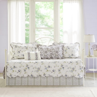 Madison Park Paolina Ivory 6 Piece Cotton Print Daybed Set