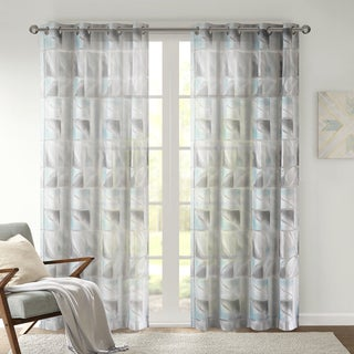 Urban Habitat Nash Geo Burnout Printed Sheer Curtain Panel