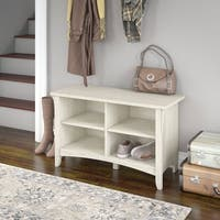 The Gray Barn Lowbridge Shoe Storage Bench in Antique White