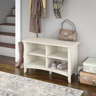 Maison Rouge Lucius Shoe Storage Bench in Antique White