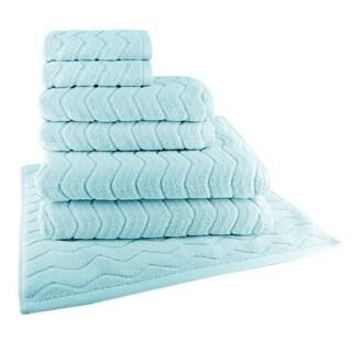 Chevron 7-Piece Towel Set (2-Bath, 2-Hand, 2-Wash and 1 Tub Mat)