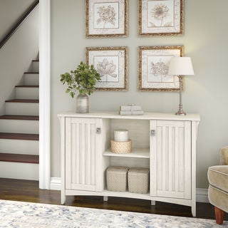 Salinas Storage Cabinet with Doors in Antique White