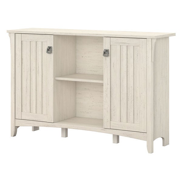 Salinas Storage Cabinet with Doors in Antique White - Free ...