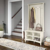 Maison Rouge Lucius Hall Tree with Storage Bench in Antique White