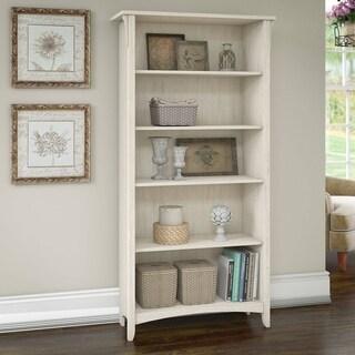Salinas 5 Shelf Bookcase in Antique White