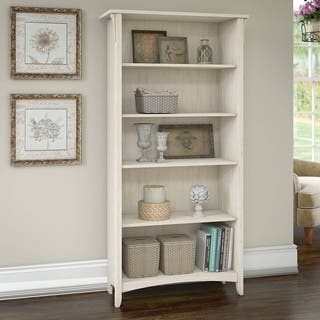 Salinas 5 Shelf Bookcase in Antique White|https://ak1.ostkcdn.com/images/products/16391567/P22742106.jpg?impolicy=medium
