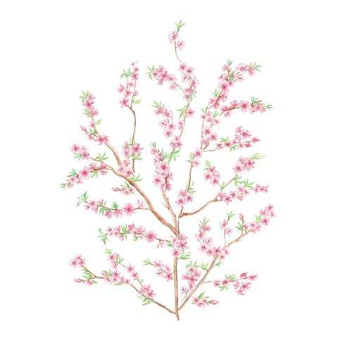 Peach Branch Wall Decals