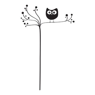 Owl On Tree Wall Decals