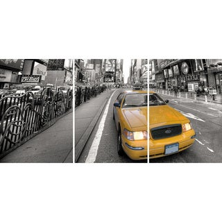 Yellow Taxi Panoramic Wall Decals