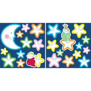 Smiling Stars Glow In The Dark Wall Decals