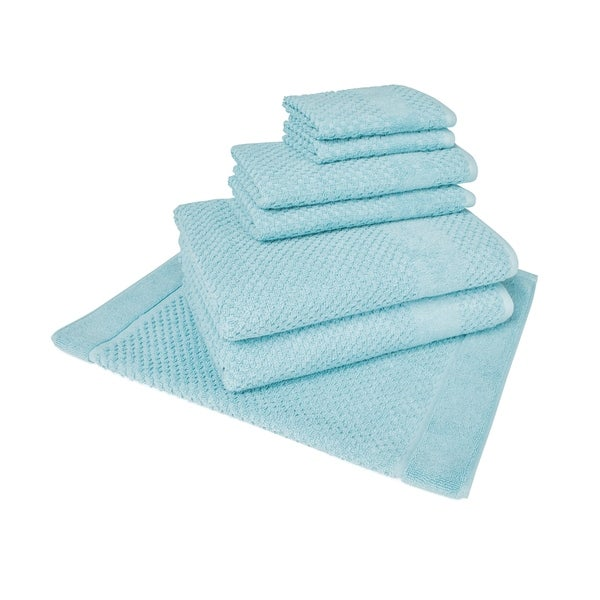 Harlequin Diamond 7-Piece Towel Set (2-Bath, 2-Hand, 2-Wash and 1 Tub Mat)