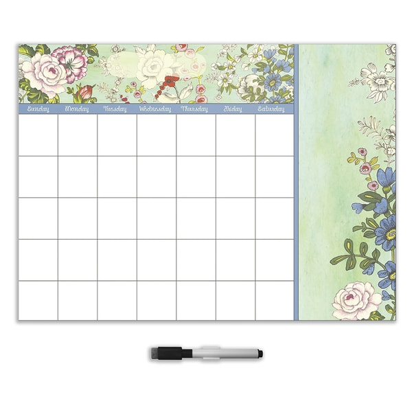 Vintage Bazaar Dry Erase Monthly Calendar Decal With Notes
