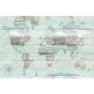 Timber World Map Decal