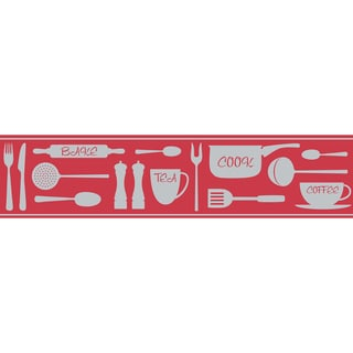 Red Cook Peel & Stick Border