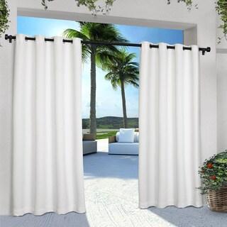 Exclusive Home Indoor/Outdoor Solid Cabana Grommet Top Curtain Panel Pair (As Is Item)
